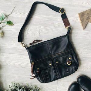 FOSSIL 2 Tone Genuine Leather Purse
